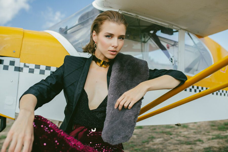 """<span>Editorial</span>""""JUST FLY"""" for GLAMOUR magazine"""