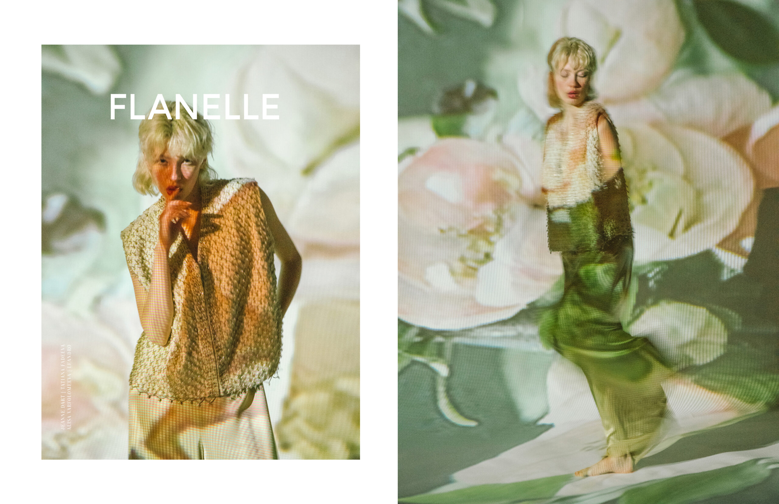 "<span>Editorial</span>""DIGITAL BLOOM"" for FLANELLE magazine"