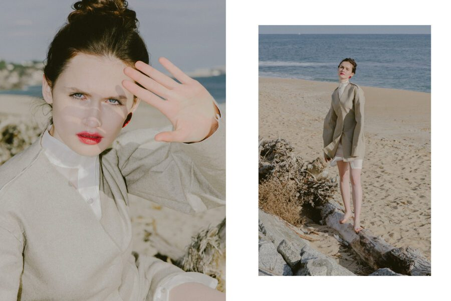 """<span>Editorial</span>""""COLD BEACH"""" for FLANELLE magazine"""