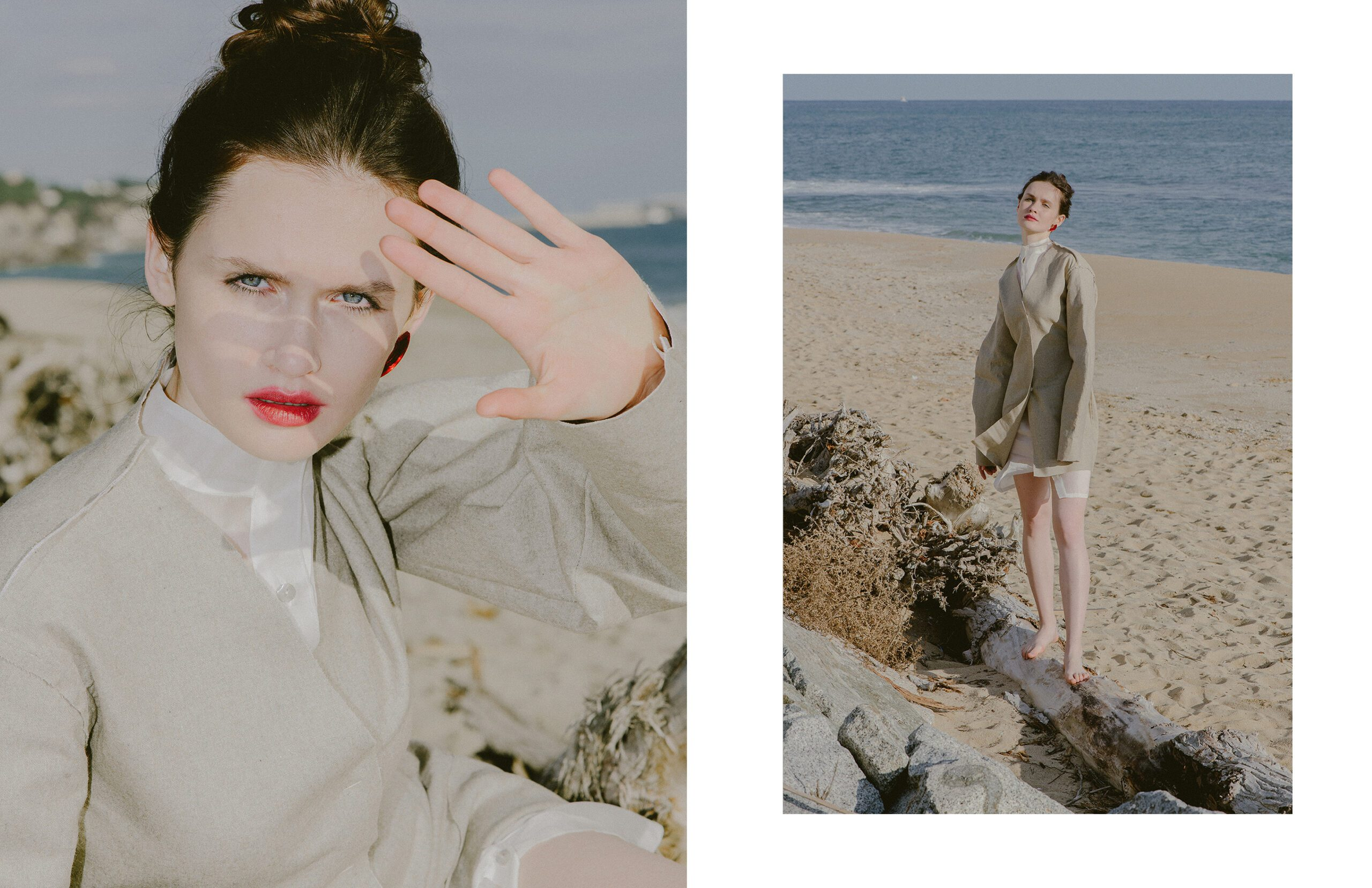 """<span>Product shooting & Campaign</span>""""COLD BEACH"""" for FLANELLE magazine"""